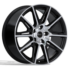 FAST SWITCH F212 WHEEL - MATTE BLACK W/ MACHINED FACE 18''