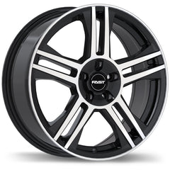 FAST SHADOW F226 WHEEL - GLOSS BLACK W/ MACHINED FACE 18''