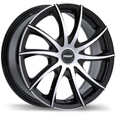 FAST VORTEX F227 WHEEL - GLOSS BLACK W/ MACHINED FACE 17''