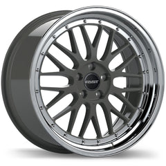 FAST VICTORY F228 WHEEL - GLOSS GUNMETAL W/ MACHINED LIP 18''