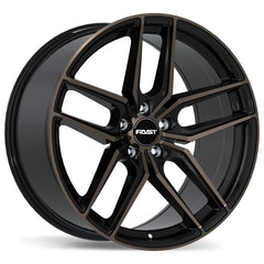 FAST ARISTO F237A WHEEL - GLOSS BLACK W/ SMOKED MACHINED FACE 19''