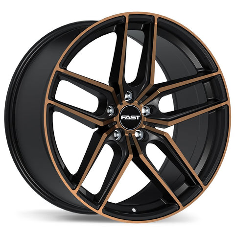 FAST ARISTO F237A WHEEL - SATIN BLACK W/ BRONZE MACHINED FACE 18''