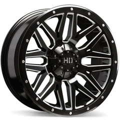 FAST HD SERIES MENACE F240 WHEEL - SATIN BLACK W/ MILLED TRIM 20''