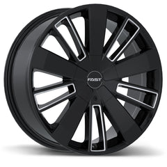 FAST ENTOURAGE F243 WHEEL - GLOSS BLACK W/ MILLED TRIM 20''