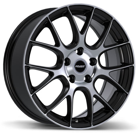 FAST KAIZEN F244N WHEEL - MATTE BLACK W/ MACHINED FACE 17''