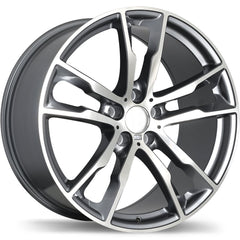 REPLIKA R184 WHEEL - GLOSS GUNMETAL W/ MACHINED FACE 20''