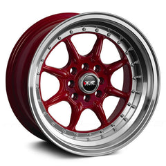 XXR 002 WHEEL - RED W/ POLISHED LIP 16''
