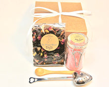 Load image into Gallery viewer, Rose Tea and Sugar Gift Set, Mango Rose Tea, Rose