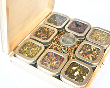 Load image into Gallery viewer, Tea Tin Sampler Gift Set, 8 Tins of Loose Leaf Tea