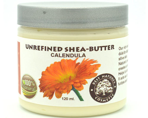 Unrefined Shea - Calendula Butter. Helps to calm