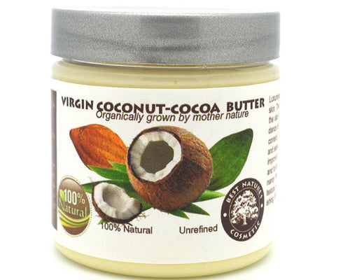 Organic Coconut and Cocoa Butter. Luxuriously rich