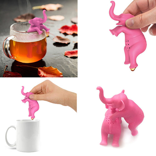 Cute Cartoon Elephant Model Tea Infuser Tea Brewing Tool Tea Strainer