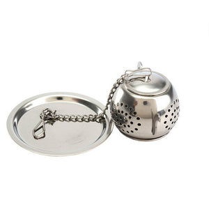 Stainless Steel Tea Infuser Reusable Loose Leaf Mesh Tea Filter Tea Strainer with Lid and Extended Chain Hook