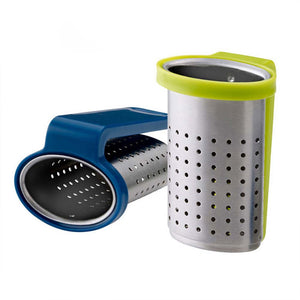 Stainless Steel Tea Infuser Reusable Loose Leaf Mesh Tea Filter Tea Strainer with Handle (Random Color)