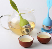 Load image into Gallery viewer, Stainless Steel Tea Filter Leaf Silicone Tea Maker Tea Tea Tea Bag Creative Travel Gift