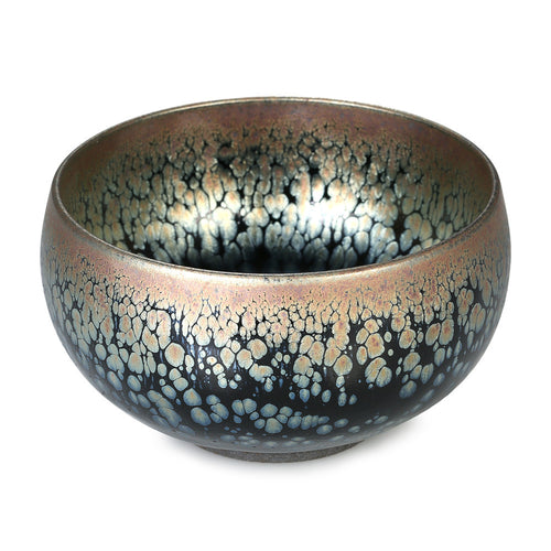 Chinese Kungfu Tea Cup Jianzhan Tea Cup Mini Tea Bowl Tenmoku Tea Cup Chinese National Arts and Crafts Chawan from Chinese Vintage Style Glaze Teaware