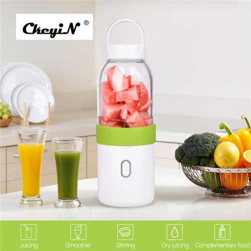 550ml Portable Electric Juicer Cup USB Rechargeable Fruit Juicer Blender Smoothie Maker
