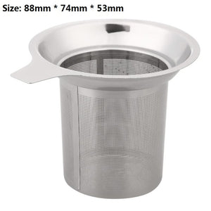 1PC Stainless Steel Mesh Tea Infuser Reusable Strainer Loose Tea Leaf Filter for Teapot Drinkware Kitchen Accessories