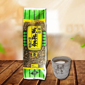 New YamaMotoYama Loose Genmaicha Green Tea 200g with Roasted Brown Rice Popcorn Tea