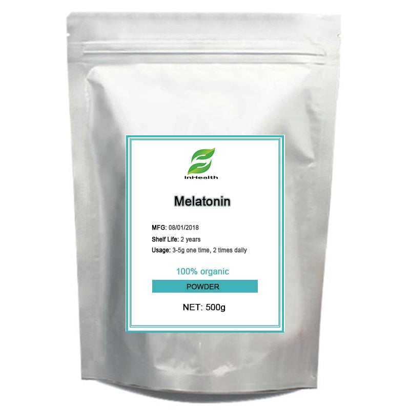 500grams High quality Nutritional sleep well Supplement Melatonin powd-er free shipping