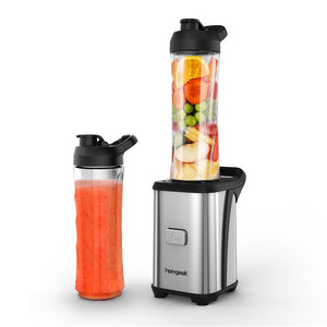 Homgeek Mini 350W Fruit and Vegetable Single Serve Juice Extractor Personal Smoothie Blender Detachable Food Processor Vegetable Fruits Blender With 2 BPA-Free Travel Sport Cups 220-240V
