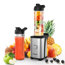 Load image into Gallery viewer, Homgeek Mini 350W Fruit and Vegetable Single Serve Juice Extractor Personal Smoothie Blender Detachable Food Processor Vegetable Fruits Blender With 2 BPA-Free Travel Sport Cups 220-240V
