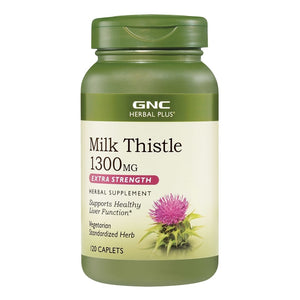 Milk thistle 1300 mg/120 caplets extra strength herbal supplement supports healthy liver function