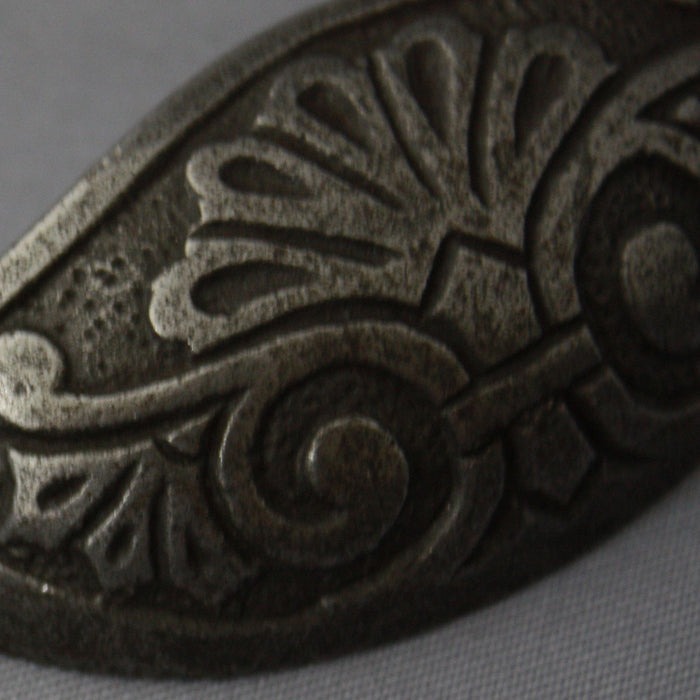 Victorian Ornate Black Cabinet Handle