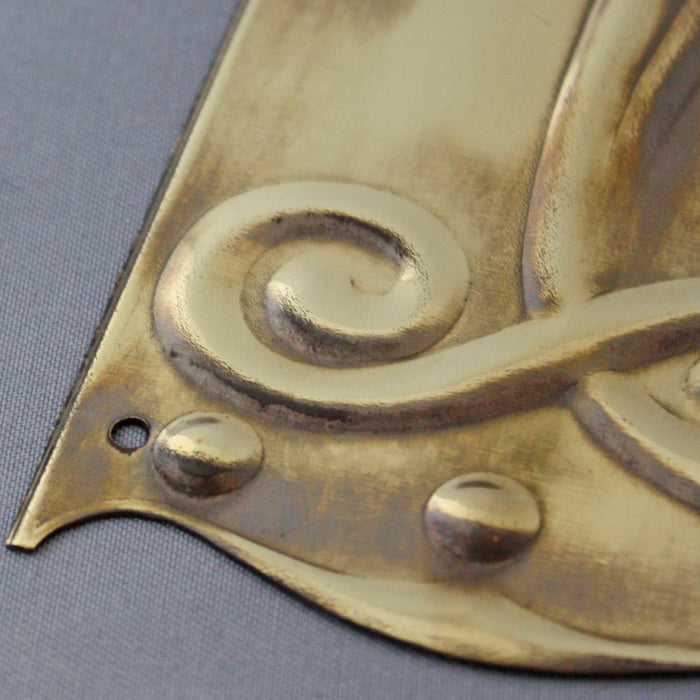 Brass Art Nouveau Finger Plate