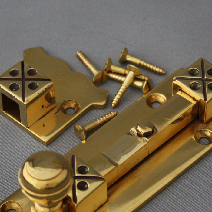 Arts & Crafts Brass Bolt