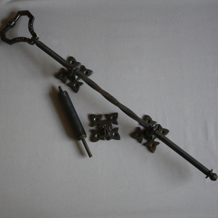 Mechanical Black Lichfield front door bell pull