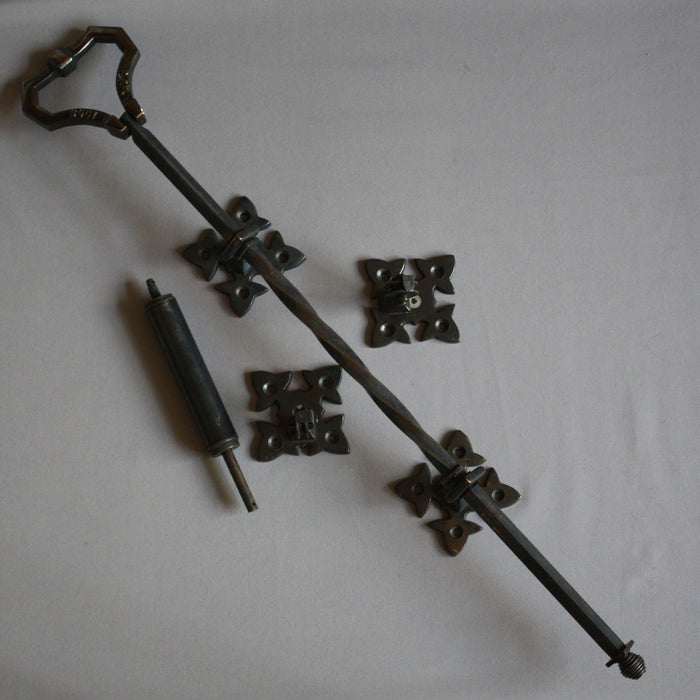 Black Lichfield mechanical front door bell pull