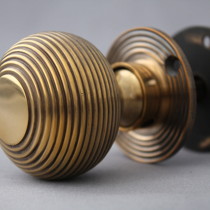 Beehive Brass Door Knobs