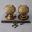 Heavy Brass Beehive Door Handles