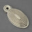 Victorian Nickel Beehive Oval Escutcheon