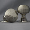 Period Beehive Nickel Door Knobs