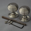 Period Victorian Beehive Nickel Door Handles