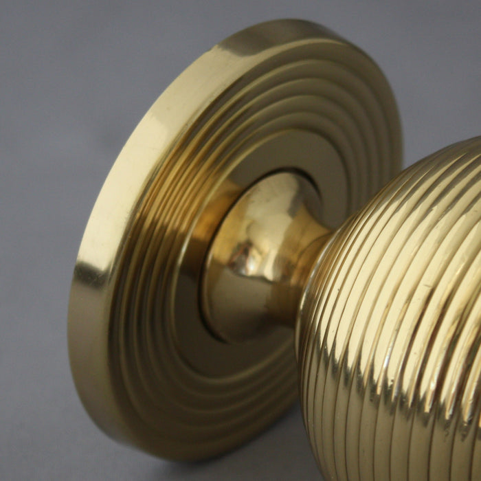 Brass Beehive Front Door Centre Pull