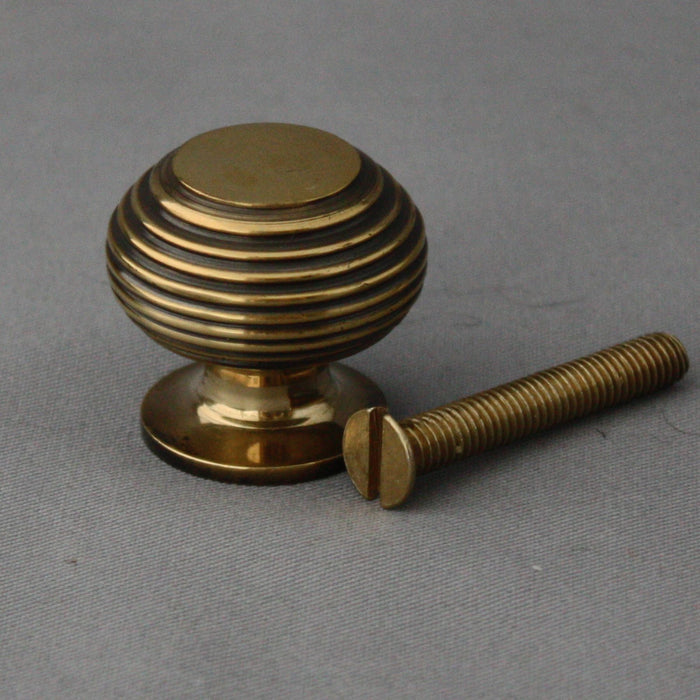 Victorian Style Brass Beehive Cabinet Knob
