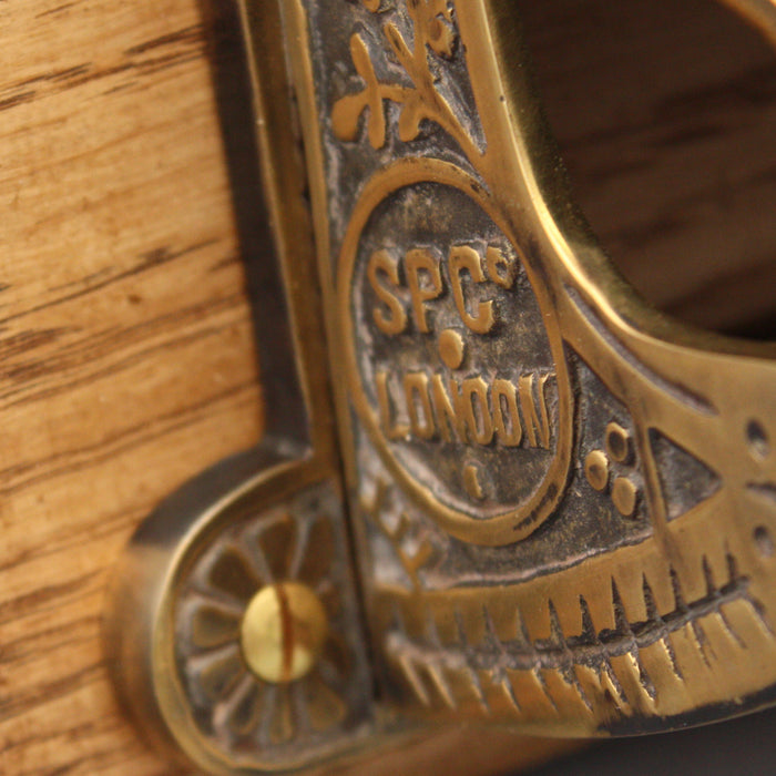 Victorian Inspired Brass Toilet Roll Holder