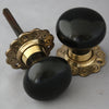 Solid ebony door knobs