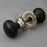 Ebony & Nickel Bun Door Knobs