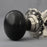 Nickel & Solid Ebony Bun Door Knobs