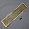 Brass Reeded Chester Finger Plate