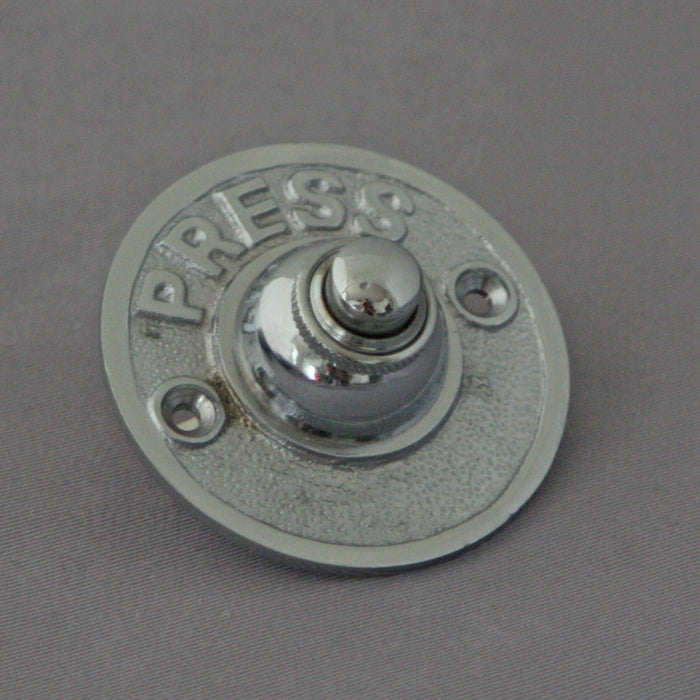Period PUSH Chrome Front Door Bell