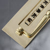 Brass Classic Victorian Letterbox, Clapper & Tidy Draught Excluder