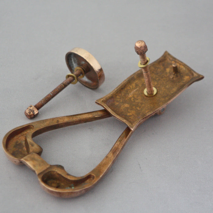 Art Nouveau Copper Door Knocker