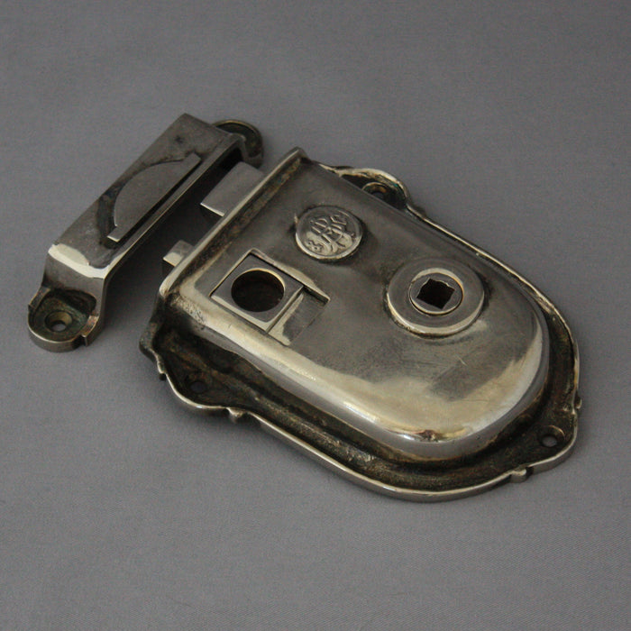 Victorian Nickel Rim Latch
