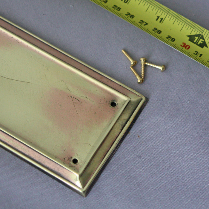 Antique Brass Early 1900s 'Rose' Finger Plates