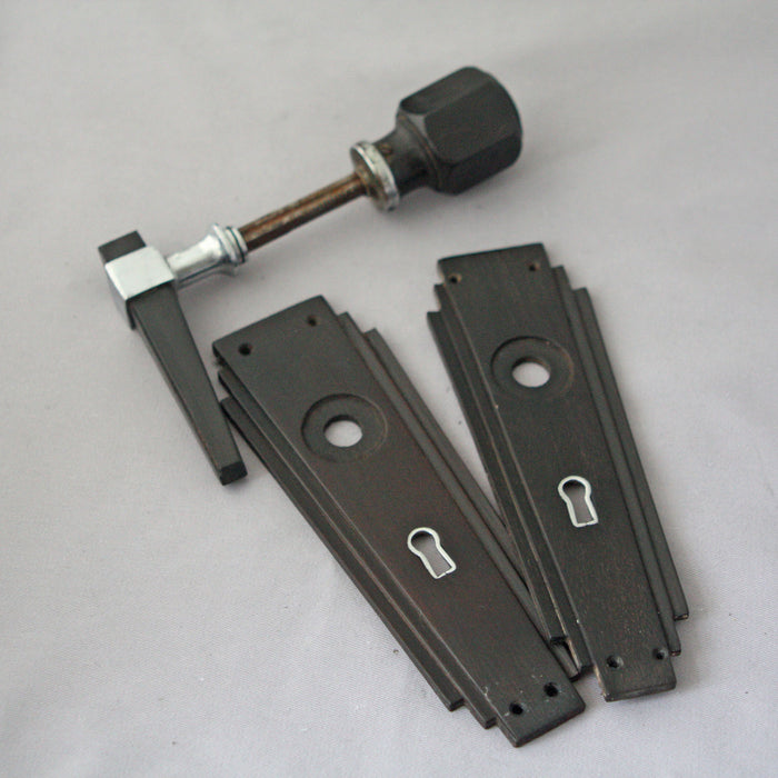 Art Deco 1920s Ebony Door Handles